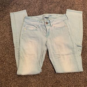 American Eagle Outfitters Jeans - Very Light Blue Straight Leg Jeans